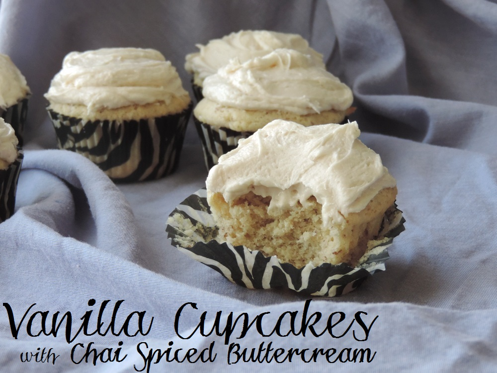 Vanilla Cupcakes with Chai Spiced Buttercream