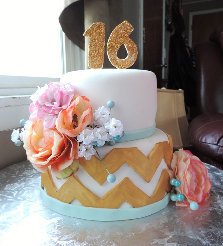 Girls 16 birthday cake